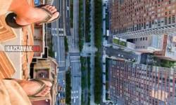 Csak úgy, láblógatás New York-ban