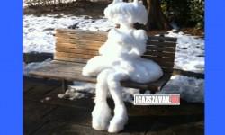 Mivel Japánban a hóember túl általános
