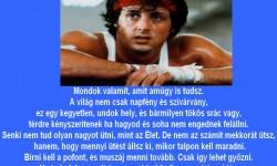 A Rocky motiváló üzenete