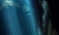 Anhumas szakadék , ahol a nap sugarai érintik az óceán alját