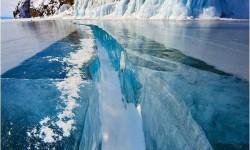 Befagyott tó Szibériában
