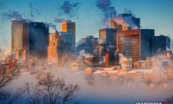 Montrealban a reggel, -36 fokban