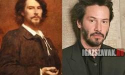 Néhány fantasztikus hasonmás történelmi személy és mai sztárok között