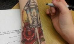 Nem tetoválás csak unatkoztam órán