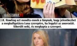 A lány akit a Harry Potter mentett meg