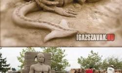 Eszméletlen jó homokszobrok
