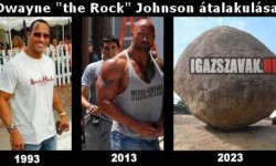 "Dwayne ""the Rock"" Johnson átalakulása"