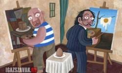 Picasso és Dalí tojást festenek