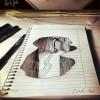 Egy szíriai művész lenyűgöző 3D-s rajzai