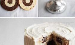 Így készül a pepita kockás torta