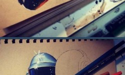 Így készül egy fantasztikus Daft Punk ceruzarajz