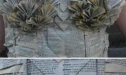 Egy ruha amely teljes egészében könyvekből készült