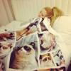 A boldogságot jelentő Grumpy Cat takaró