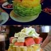 Ínycsiklandozó saláta tornyok
