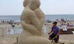 Tengerparti homokszobrászat fesztivál, a polip volt a befutó