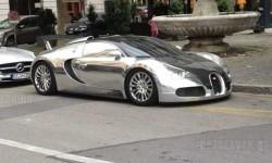 Csak egy krómozott Bugatti Veyron Genfben