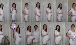 Egy kismama fotói terhessége alatt