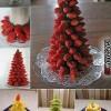 Ehető karácsonyfák gyümölcsből