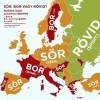 Európa alkoholtérképe