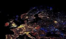 Európa műholdas felvétele – December 31-én 00:00-kor