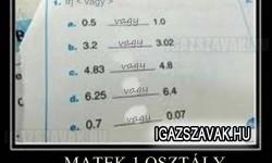 Matek 1. osztály