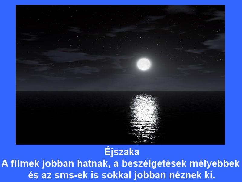 éjszaka hold