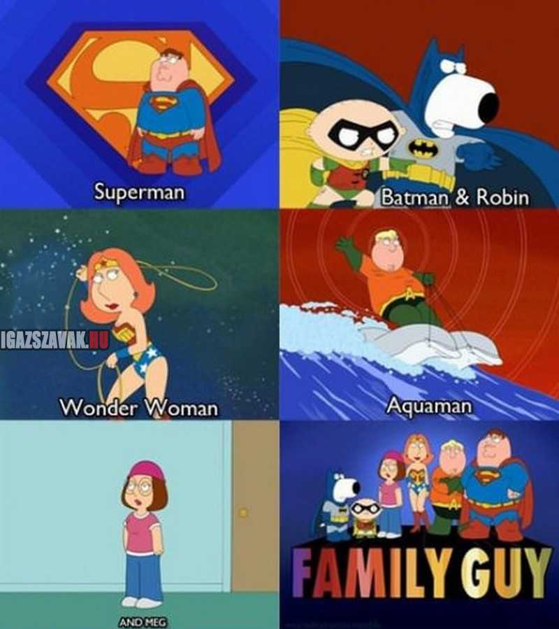 A Family Guy bekeményített, kivéve szegény Meg-et