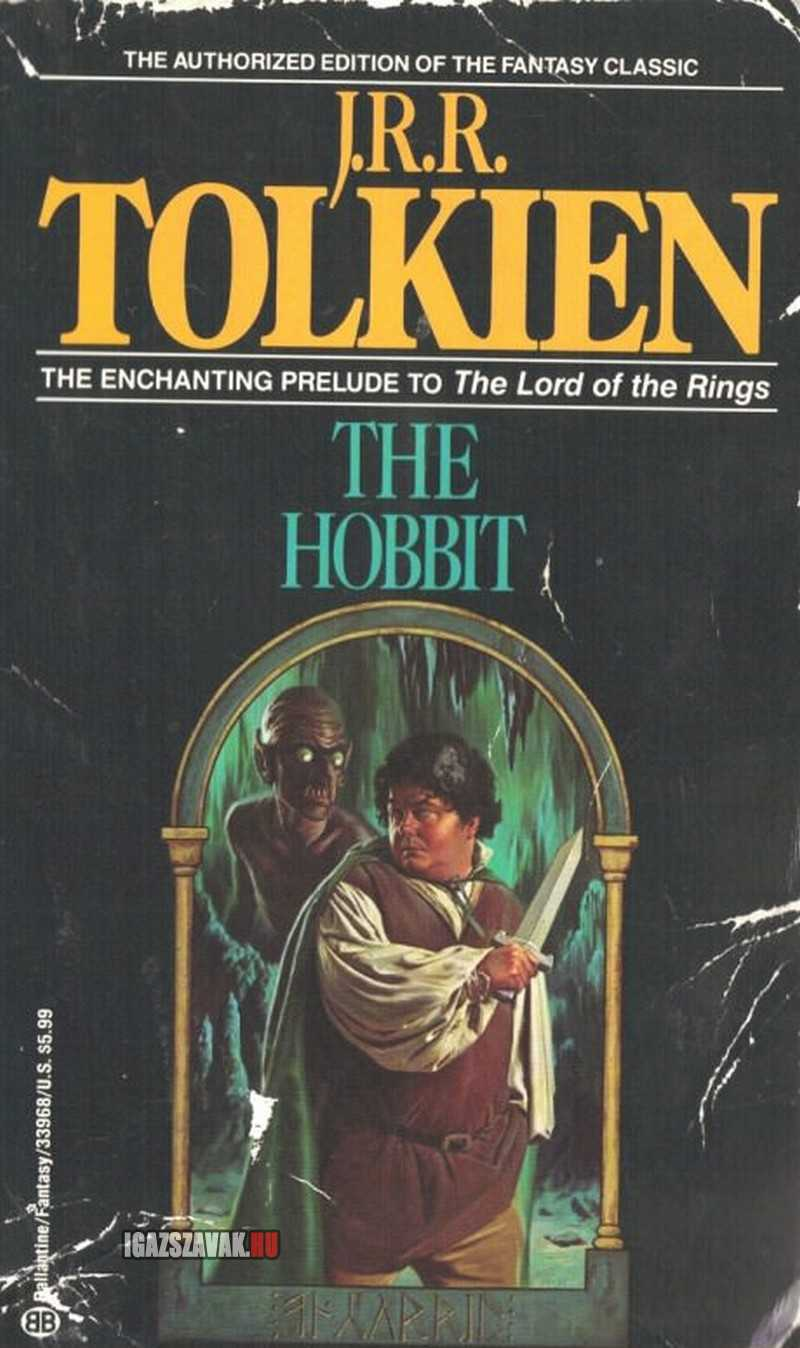 A Hobbit, a könyv boritója  a 80-as évekból
