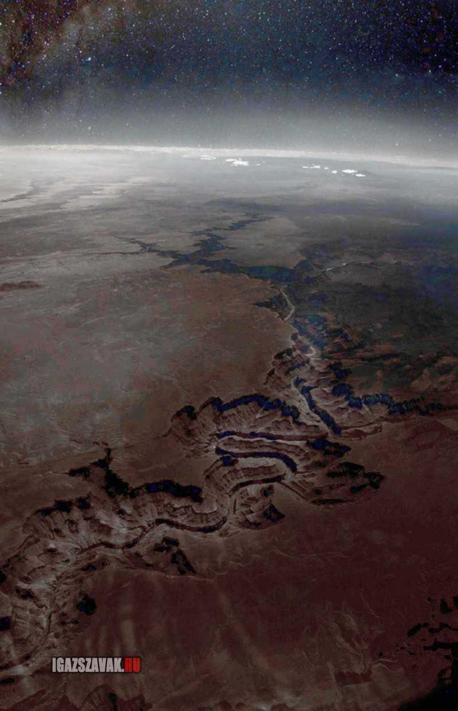 A nap képe A Grand Canyon az űrből