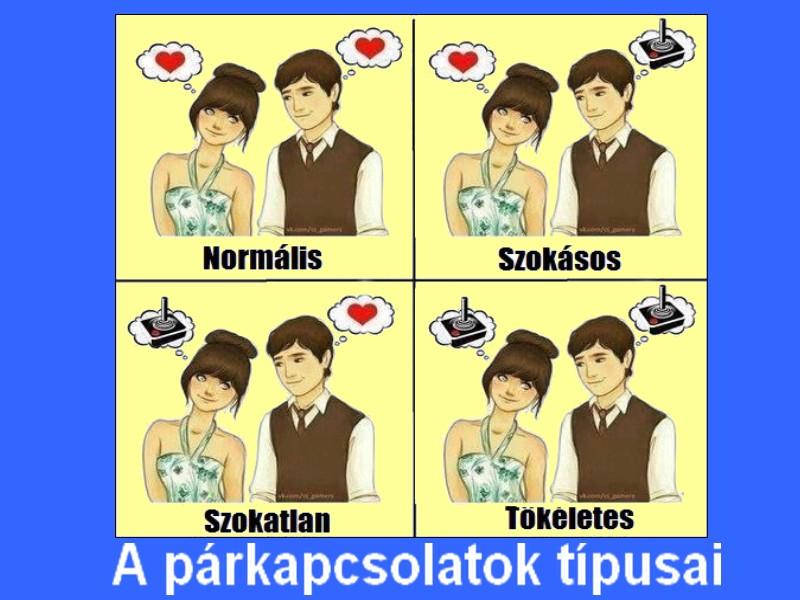 A párkapcsolatok típusai