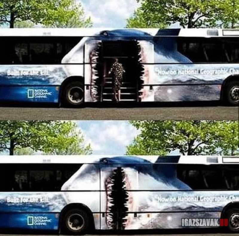 Brutáljó buszreklám