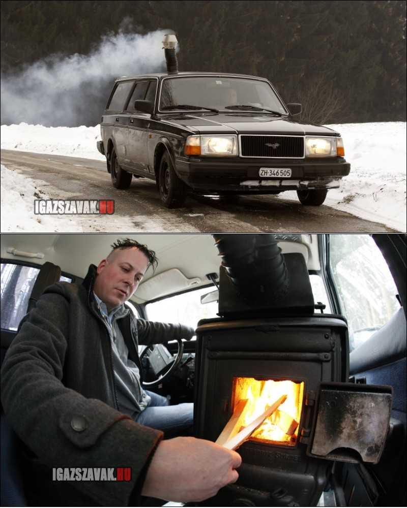 Eközben Oroszországban, fafútéses Volvo