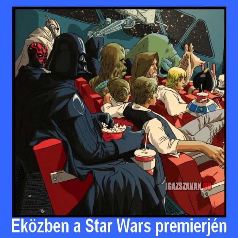 Eközben a Star Wars premierjén