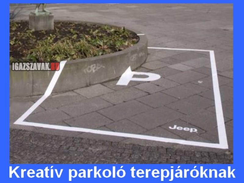 Kreatív parkoló terepjároknak