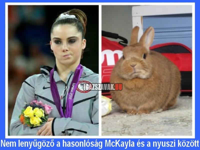 Nem lenyűgöző a hasonlóság McKayla és a nyuszi között