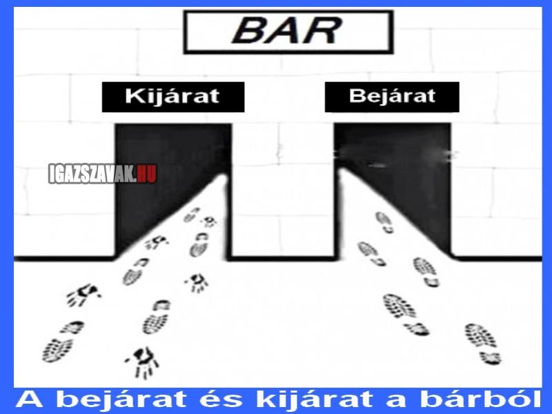 a bejárat és kijárat a bárból