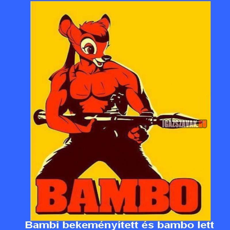 bambi bekeményített és bambo lett
