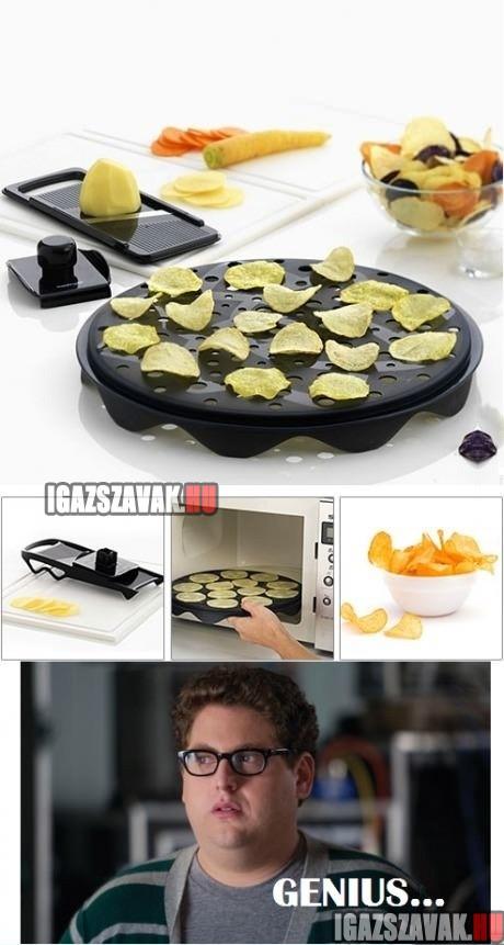 chips készítés otthon