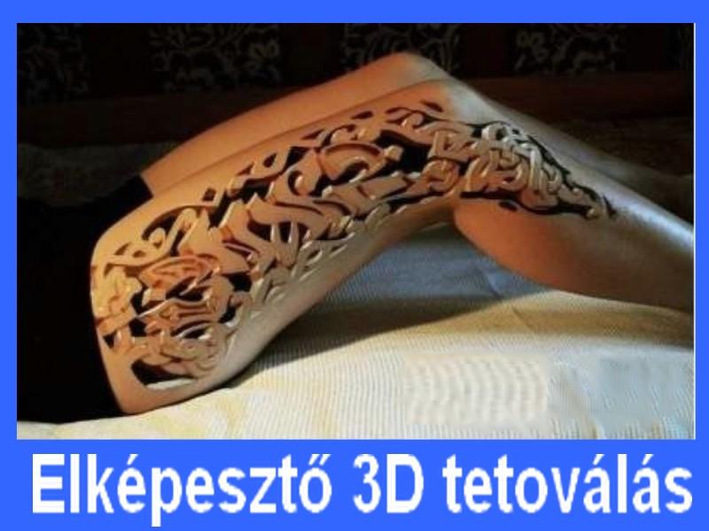 elképesztő 3D tetoválás