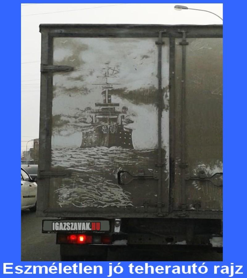 eszméletlen jó teherautó rajz