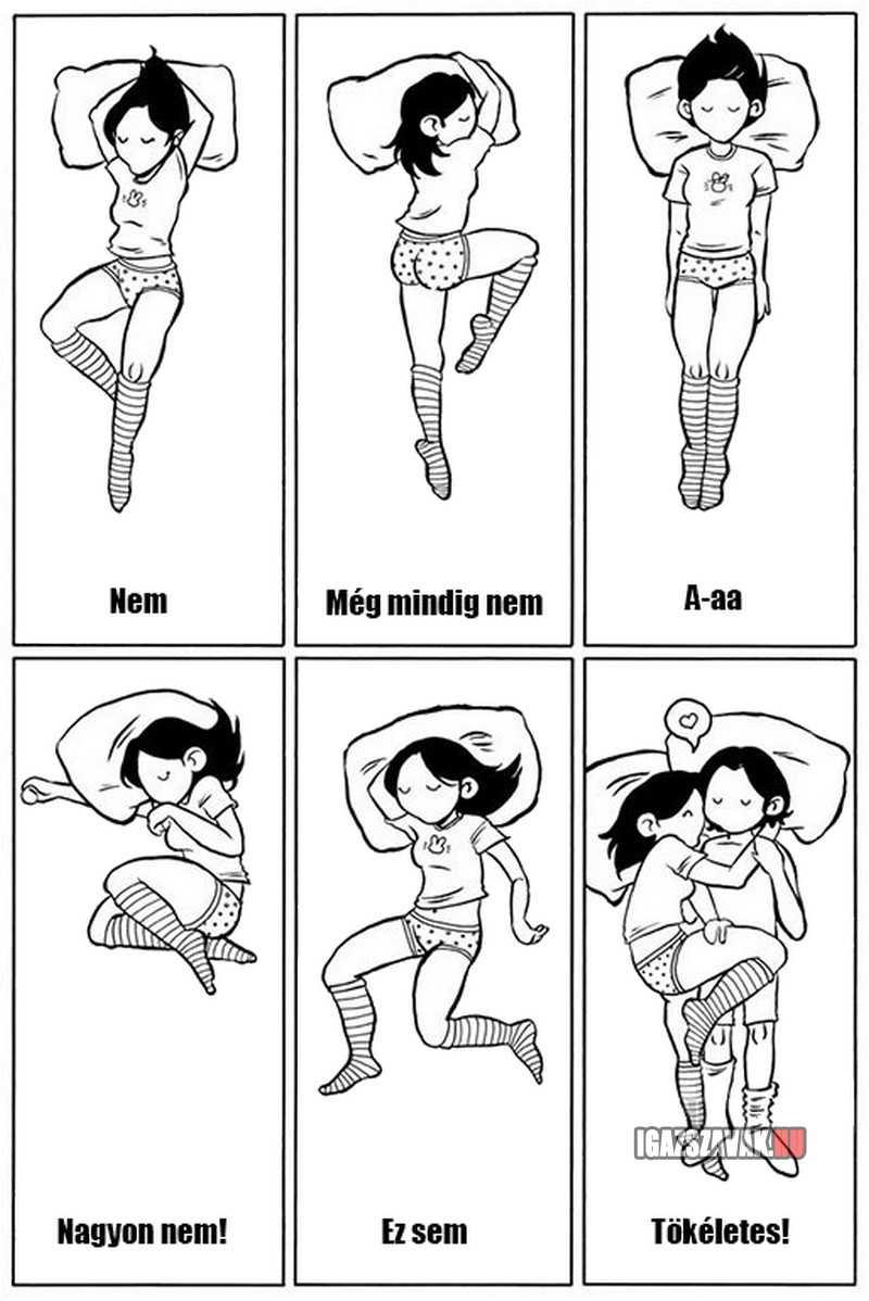 így az igazi az ágyban