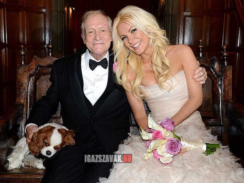 A 86 éves világfi Hugh Hefner ismét megnősült