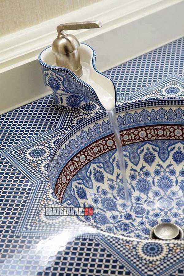 Egy gyönyörű perzsa mosdó