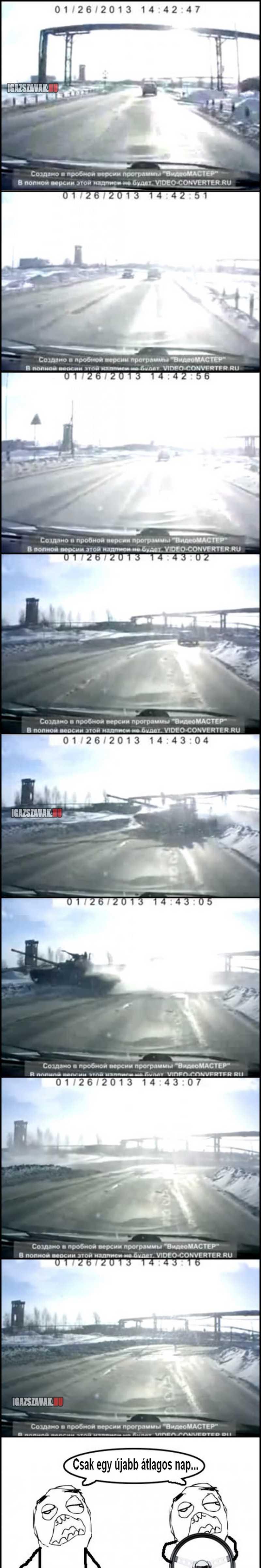 Eközben az orosz utakon