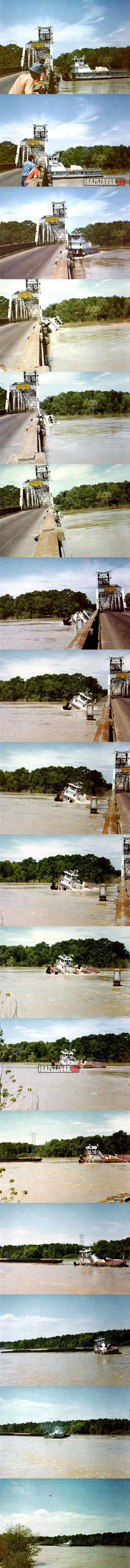 Eszméletlen, hajó és híd találkozása
