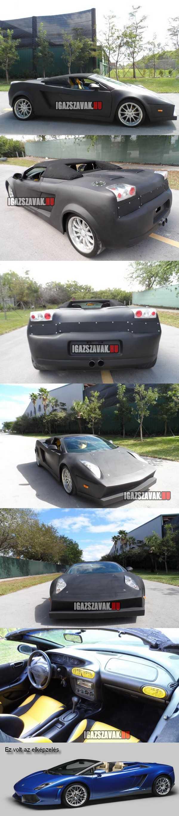 Lamborghini Gallardo replica Dodge alapon, házi készítés