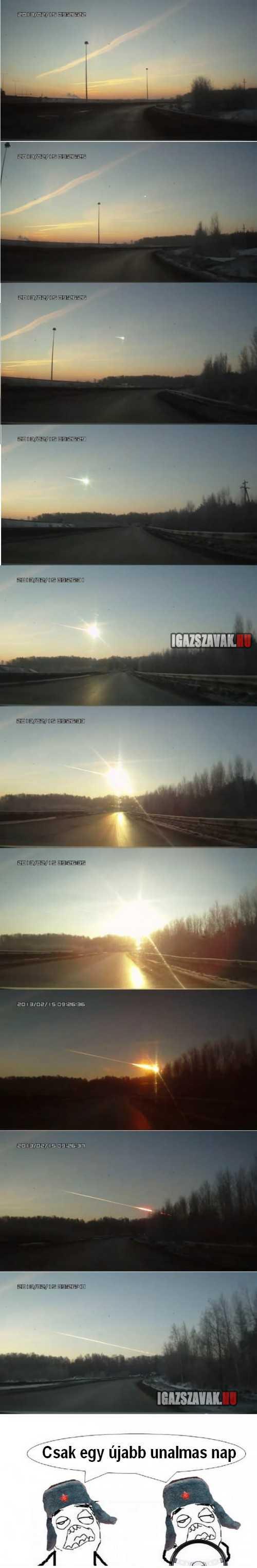 Oroszországban egy újab meteoritos nap