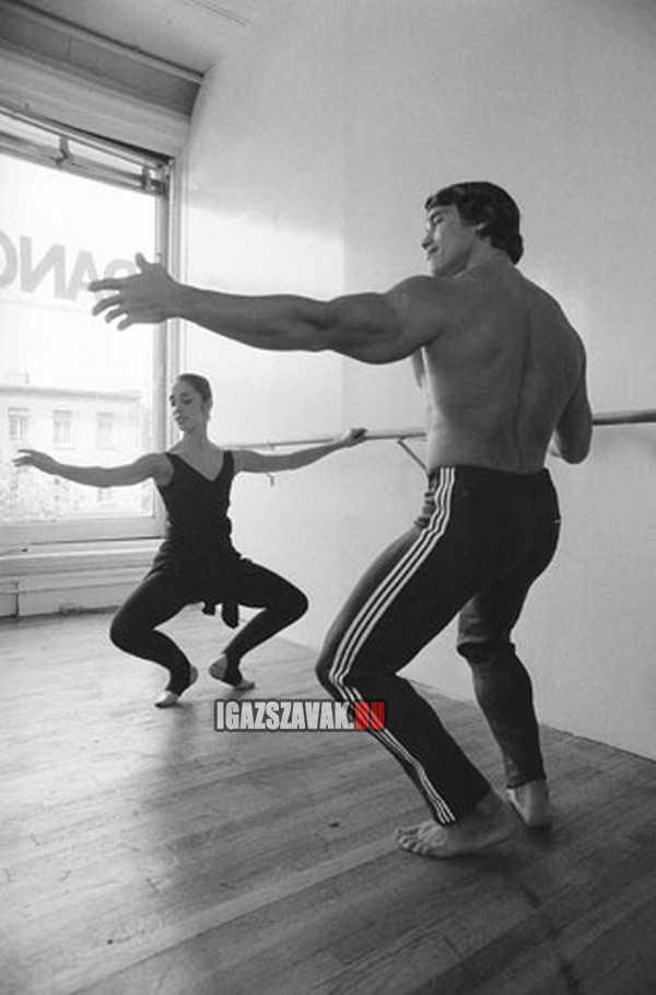arnold scwarzenegger klasszikus balett órát vesz, hogy javítsa mozgását
