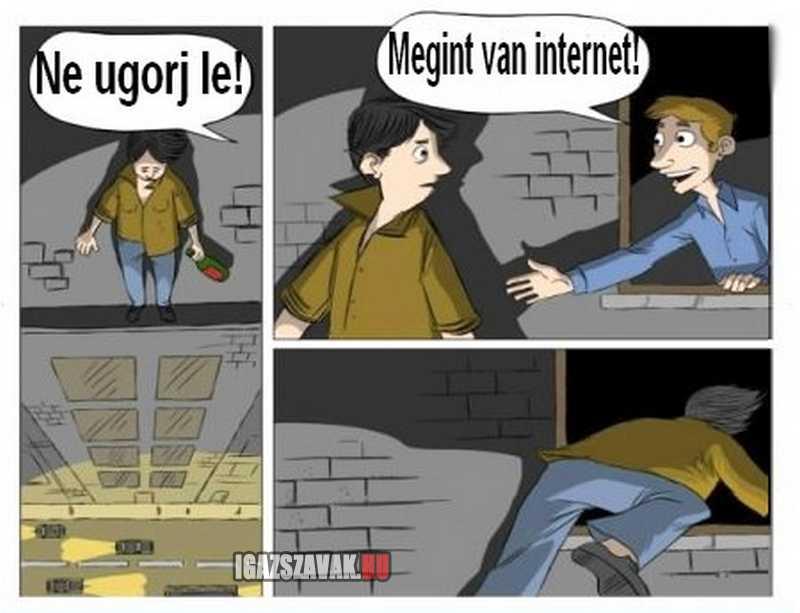 az internet életmentő