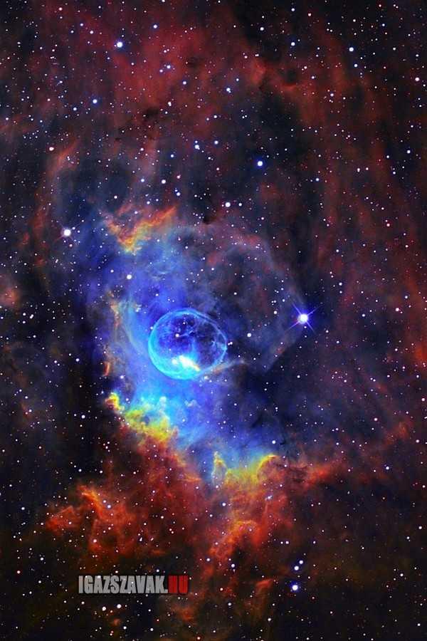 egy gyönyörű buborék köd (NGC 7635)